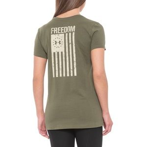 New Under Armour Freedom Flag 2.0 T-Shirt L or XL